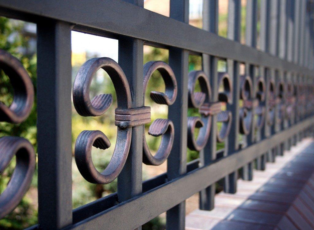 Close up of iron gate