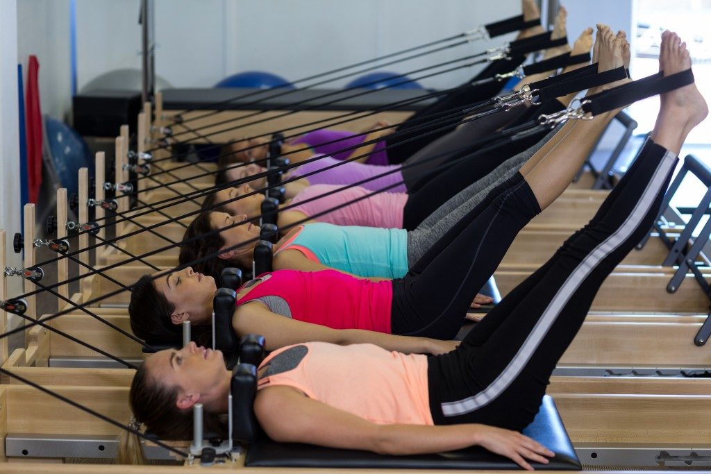 Group of women exercising in the gym