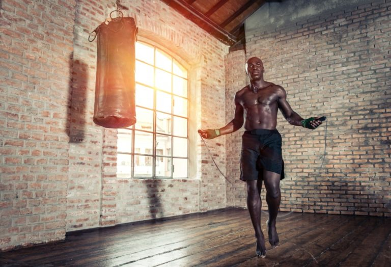 buff man at a gym