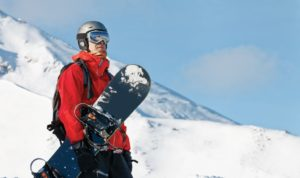 Man wearking snowboarding gear
