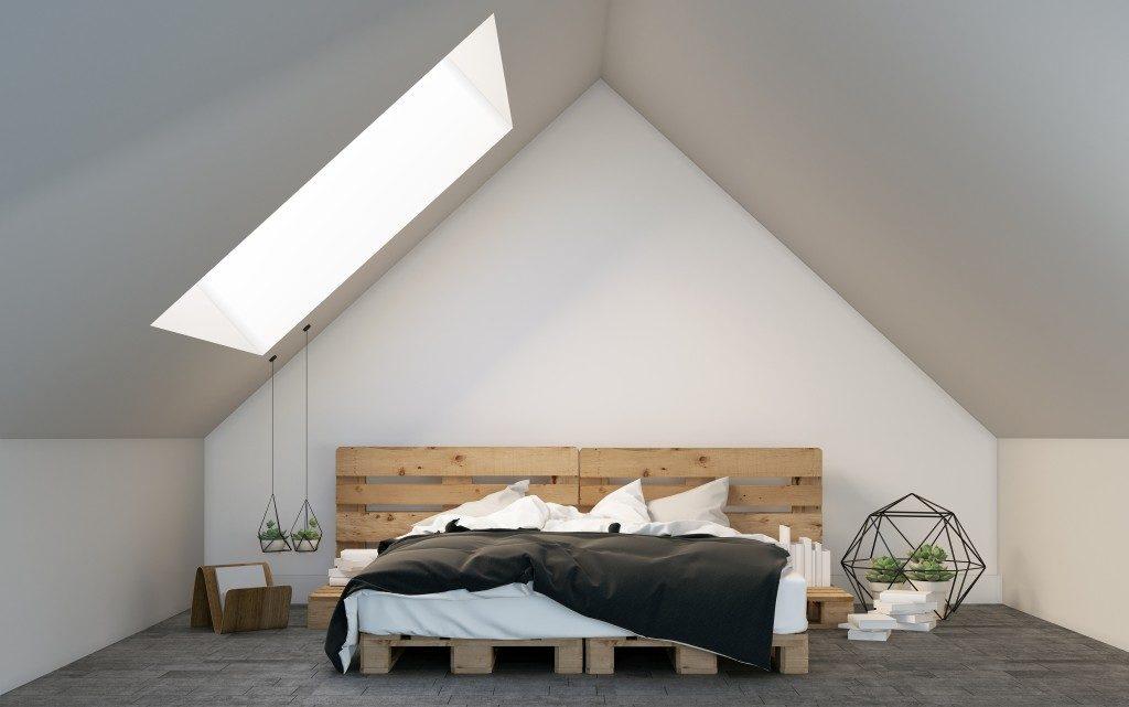 Modernized attic room