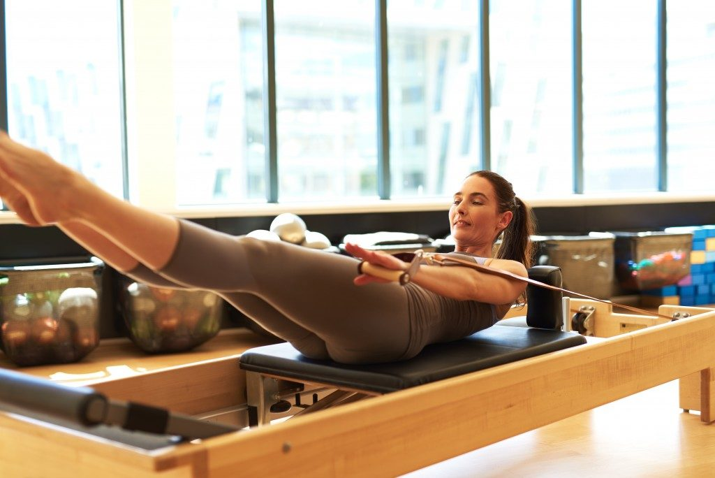 woman working out indoor