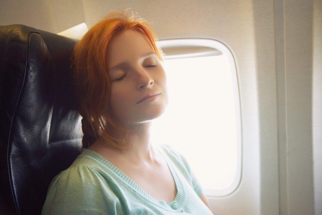 Sleeping in an aircraft