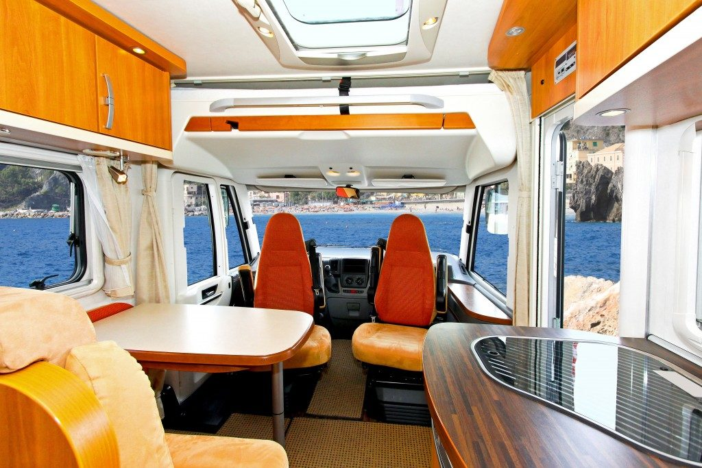 inside a camper van