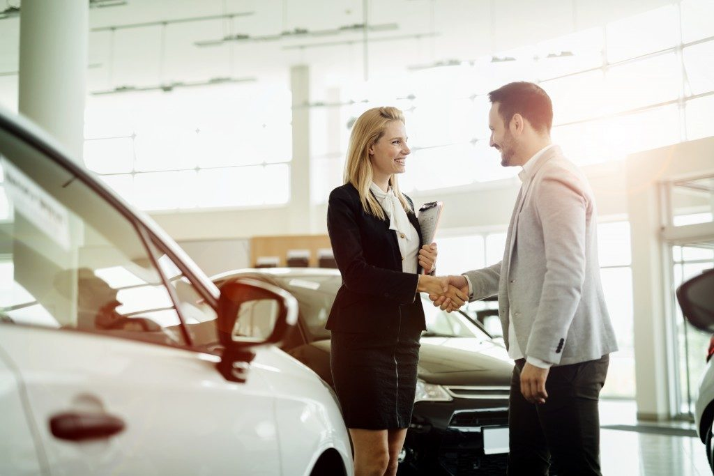 Buying a car from a car dealer