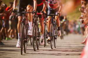 A cycling race