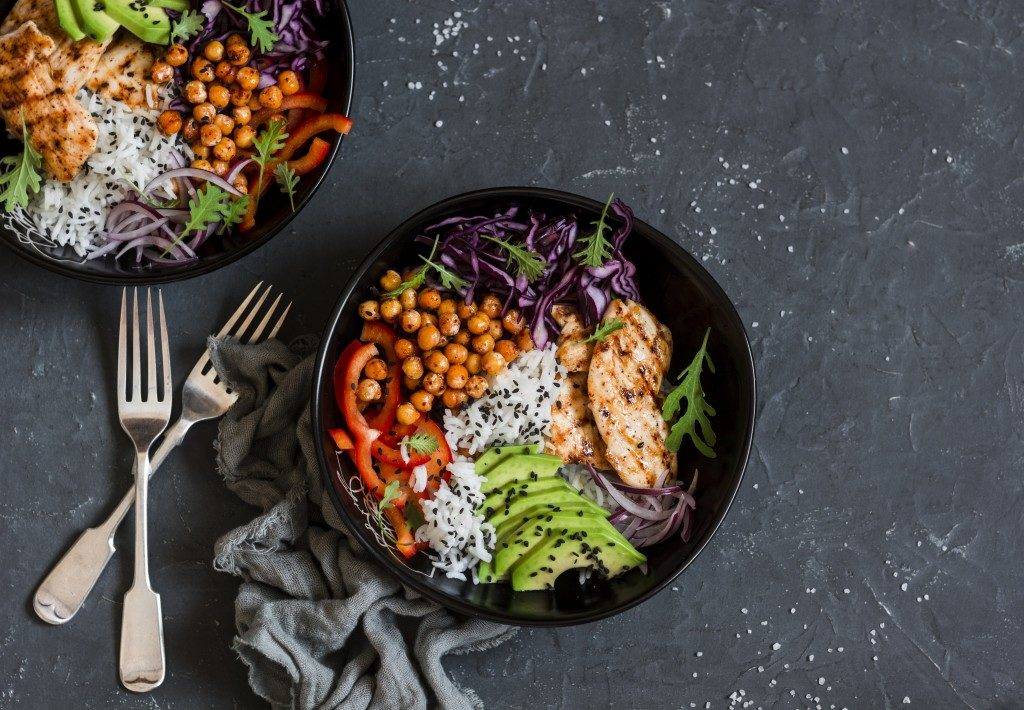 healthy meal in a skillet