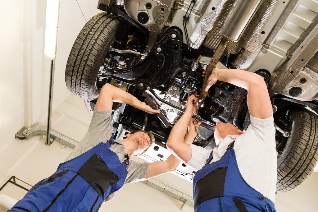 Garage and in Repair