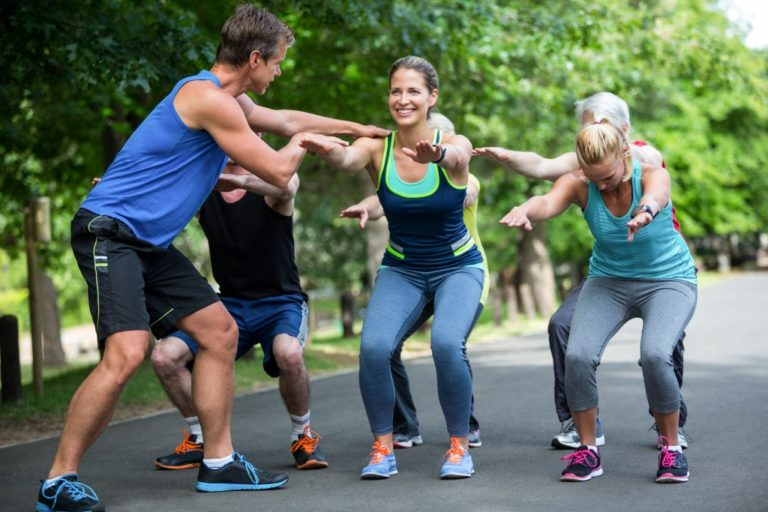 Exercising as a group