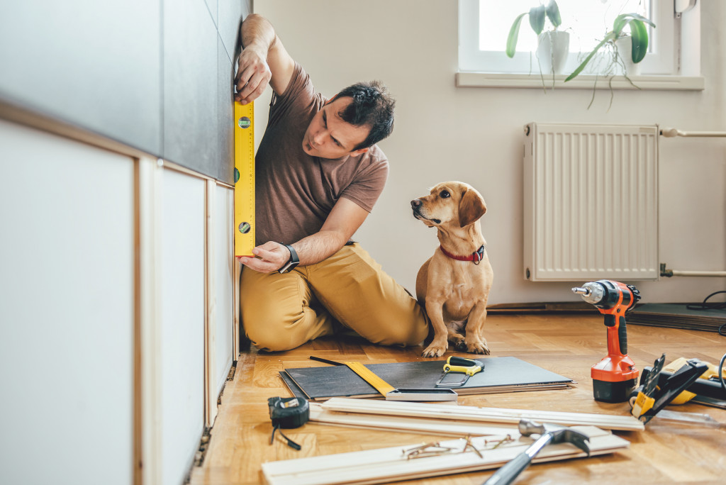 person doing renovation