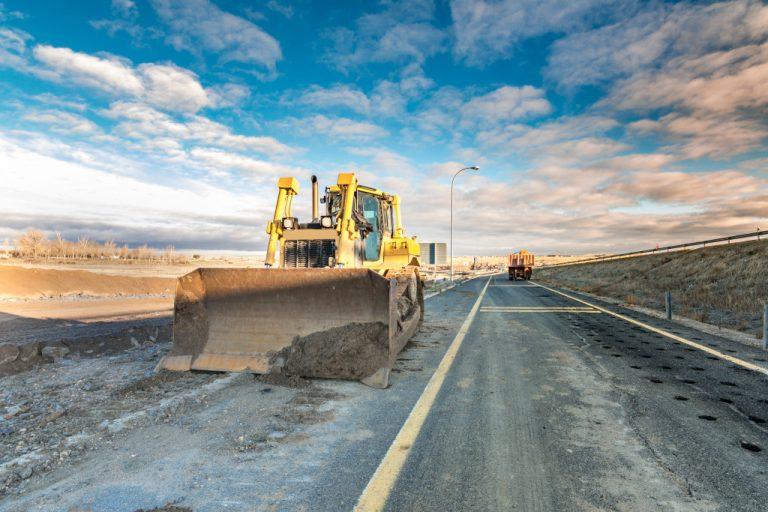bulldozer on the street
